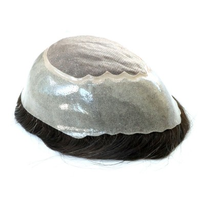 Fine Mono With Poly With Gauze In Perimeter Mens Toupee